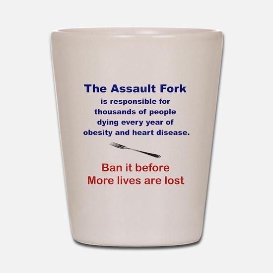 THE ASSAULT FORK... Shot Glass