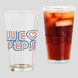 We Heart Pepsi Drinking Glass