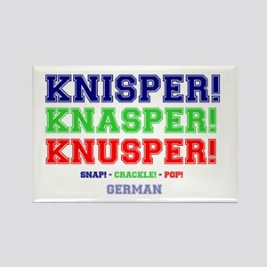 SNAP - CRACKLE - POP - GERMAN Rectangle Magnet