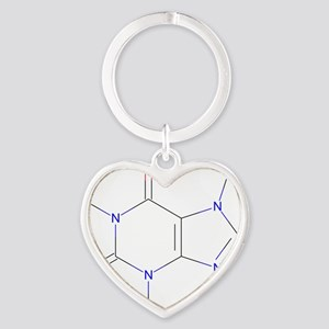 Caffeine Heart Keychain