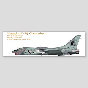 RAN Vought F-8J Crusader 1981 Sticker (Bumper)