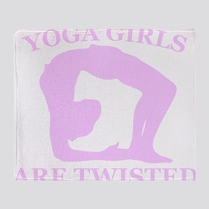 Yoga Girls are Twisted Throw Blanket