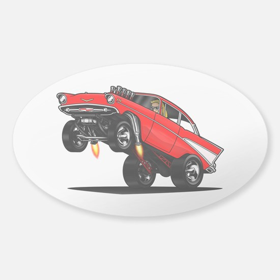57 Gasser Wheelie Decal