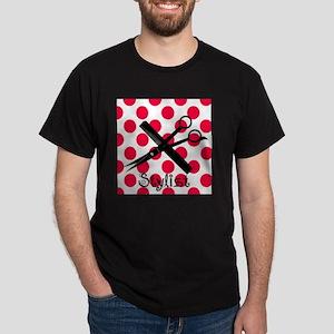 stylist SQUARE RED PENDANT Dark T-Shirt
