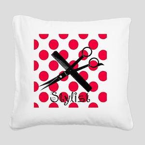 stylist SQUARE RED PENDANT Square Canvas Pillow