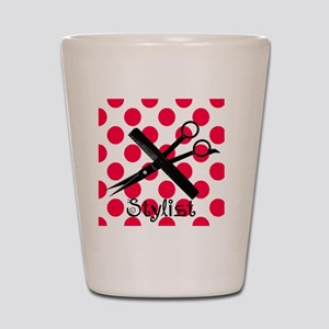 stylist SQUARE RED PENDANT Shot Glass