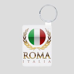 Roman design Aluminum Photo Keychain