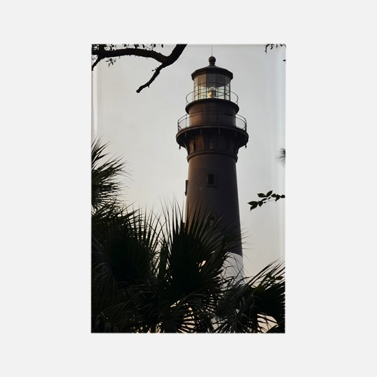 Hunting Island Lighthouse Rectangle Magnet