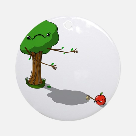 The apple doesnt fall far from the  Round Ornament