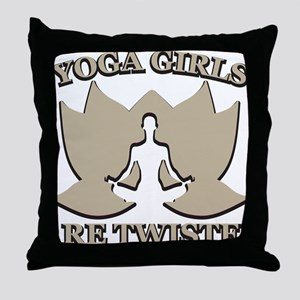 Yoga Girls are Twisted Throw Pillow