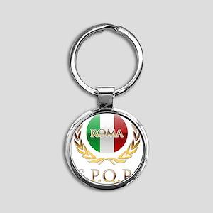 Rome Round Keychain