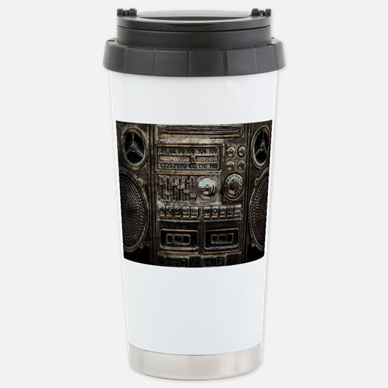 RETRO BOOMBOX Stainless Steel Travel Mug