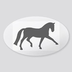 dressage extended trot Oval Sticker