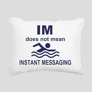 Instant Messaging Rectangular Canvas Pillow