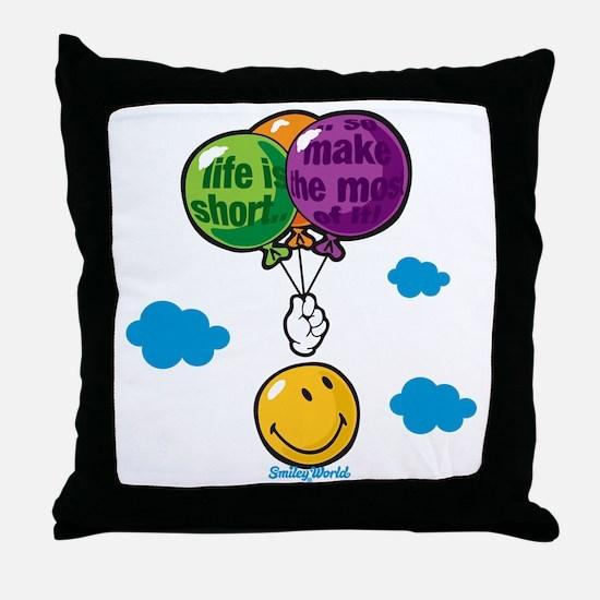 Ballon Smiley Throw Pillow