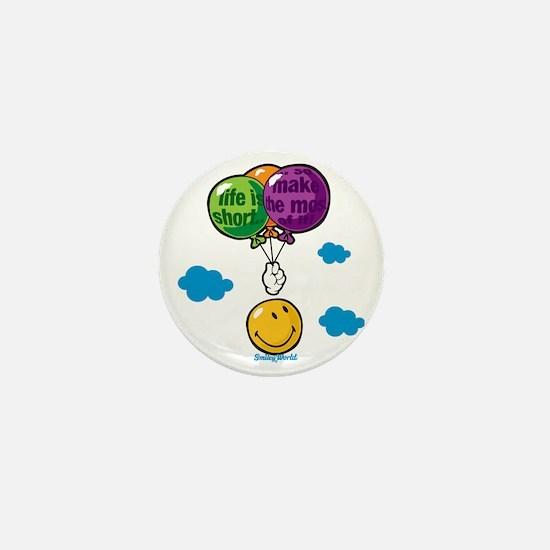 Ballon Smiley Mini Button