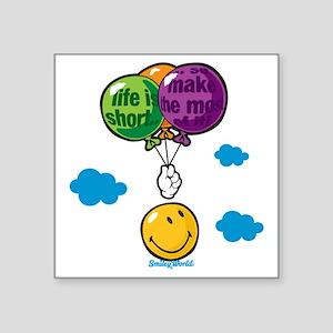 """Ballon Smiley Square Sticker 3"""" x 3"""""""