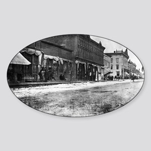 5x7 Glass Plate- Street Scene unkno Sticker (Oval)