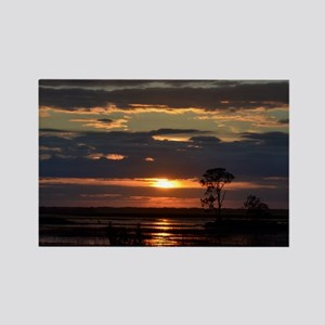 Hunting Island SC Sunset Rectangle Magnet