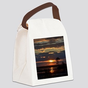 Hunting Island SC Sunset Canvas Lunch Bag