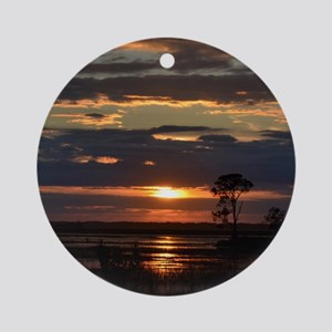 Hunting Island SC Sunset Round Ornament