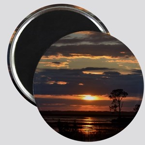 Hunting Island SC Sunset Magnet