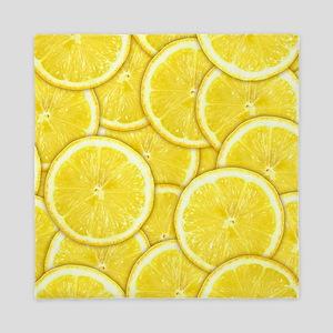 Lemon Slices Queen Duvet