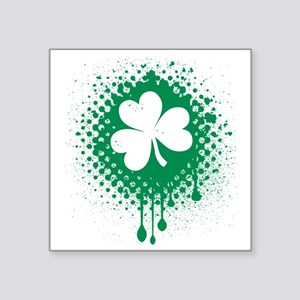 "Irish Shamrock grunge Square Sticker 3"" x 3"""