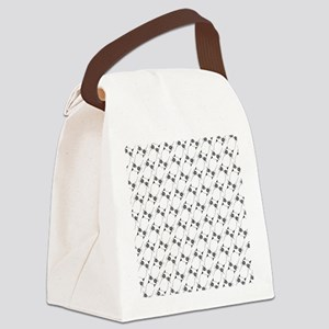 Pissy Cat Lines Canvas Lunch Bag