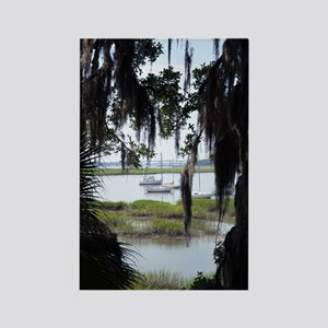 Beaufort River Through Palmettos  Rectangle Magnet