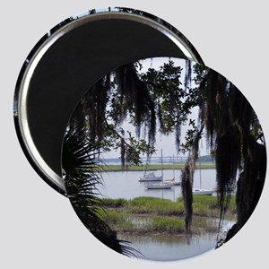 Beaufort River Through Palmettos and Spanis Magnet