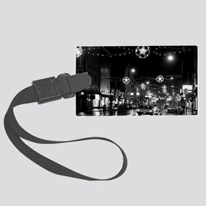 1966 Nov 24-ML-lights nite Large Luggage Tag