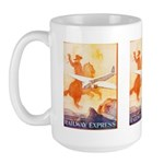 Railway Express Poster 1935 Large Mug