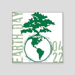 """Earth Day 04/22 Square Sticker 3"""" x 3"""""""