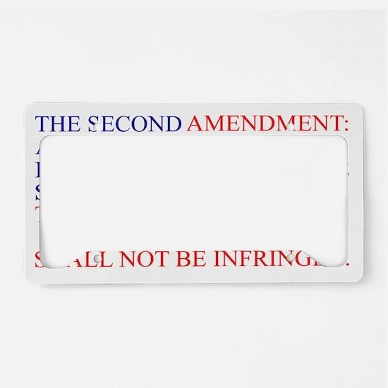 The Second Amendment Flag License Plate Holder