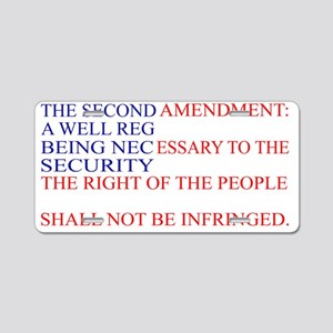The Second Amendment Flag Aluminum License Plate
