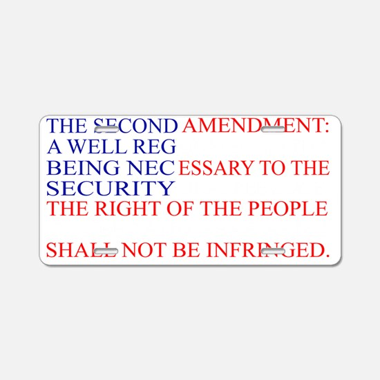 The Second Amendment Flag Aluminum License Plate