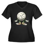 Volleyball Dark Plus Size T-Shirt