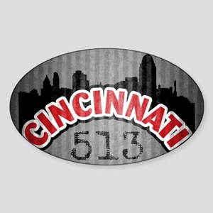 Cincinnati Area Code Sticker (Oval)