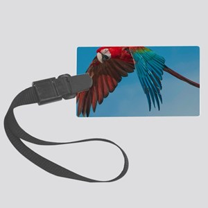 Green-winged Macaw Steve Duncan Large Luggage Tag