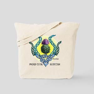 Scottish Thistle white T-shirt Tote Bag