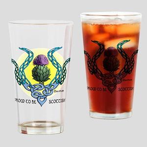 Scottish Thistle white T-shirt Drinking Glass