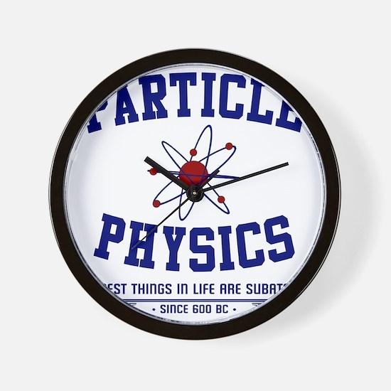 Particle Physics Wall Clock