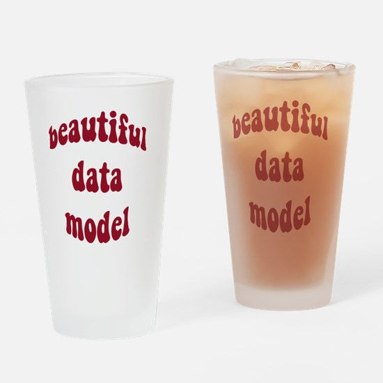 beautiful data model (red) Drinking Glass
