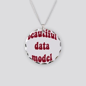 beautiful data model (red) Necklace Circle Charm