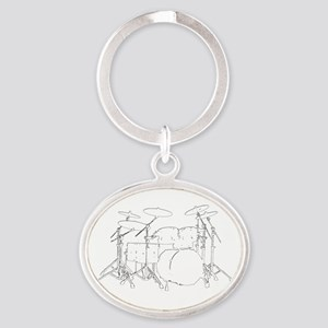 The tempo is what I say (TS-W) Oval Keychain