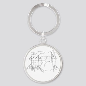 The tempo is what I say (TS-W) Round Keychain