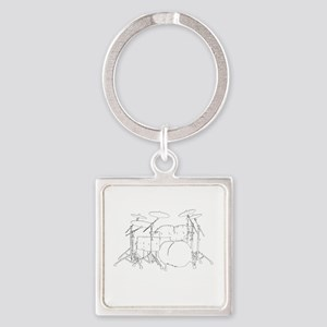 The tempo is what I say (TS-W) Square Keychain