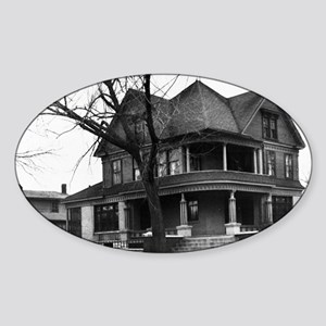 Snook House, Ottumwa Iowa Sticker (Oval)