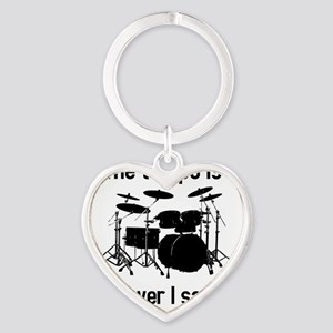 The tempo is what I say (TS-B) Heart Keychain